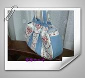 拼布-大包小包:喜佳試用布~藍玫瑰花4.jpg