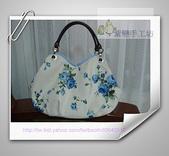 拼布-大包小包:藍玫瑰花空氣包.jpg