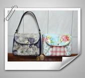 拼布-大包小包:紫色優雅玫瑰花防水斜背包4.jpg