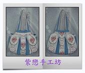 拼布-大包小包:喜佳試用布~藍玫瑰花3.jpg