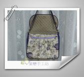 拼布-大包小包:紫色優雅玫瑰花防水斜背包1.jpg