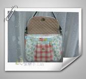 拼布-大包小包:水藍色-英國布防水斜背包3.jpg