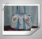 拼布-大包小包:喜佳試用布~藍玫瑰花1.jpg