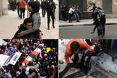 news:沙伊瑪 · 薩巴格在解放廣場敬獻鮮花時,被防暴警察擊中。.jpg