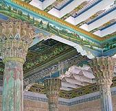 南北疆之48香妃傳奇:15香妃墓園旁的清真寺雕樑畫柱.jpg