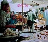 南北疆之56新疆的饢文化:07小吃市集.JPG