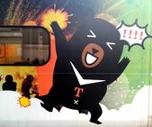 巧遇 喔熊微笑觀光彩繪列車~就在18:16苗栗1244班次的區間車:喔熊微笑觀光彩繪列車018.jpg