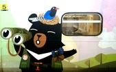 巧遇 喔熊微笑觀光彩繪列車~就在18:16苗栗1244班次的區間車:喔熊微笑觀光彩繪列車016.jpg